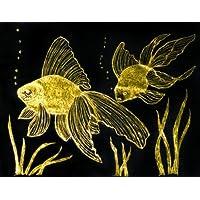 Kit de actividades de papel de arte de Scratch Melissa y Doug - 10 hojas de papel dorado y plateado, lápiz de madera