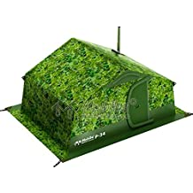 Winter Tent with Stove Pipe Vent. Outfitter Ice Hunting Fishing Camping Tent with Wood Stove. 4 Season Tent. Expedition Arctic Living Warm Tent. Army Military Tent for 6 Person. For Fishermen, Hunters and Outdoor Enthusiasts!