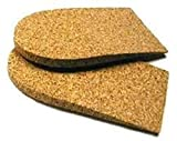 1/2'' (12mm) Cork Heel Lift, 1 Pair (Small (2'' wide))