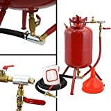 Portable & Durable All Steel 5-Gallon Sandblaster Tank w 4 Ceramic Blast Nozzles