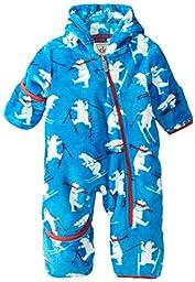 Hatley Baby Boys\' Fuzzy Fleece Bundler Skiing Polar Bears, Blue, 12 18 Months