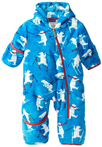 Hatley Baby Boys Fuzzy Fleece Bundler Skiing Polar Bears  Blue  12 18 Months