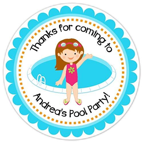 Karate Kid Round Personalized Birthday Party Sticker Labels