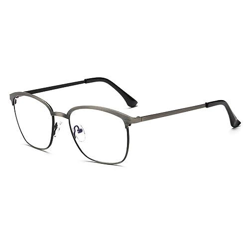 Unisex Anti Blue Light Glasses – Metal Frame Eyeglasses Clear Lens Glasses Frame con funda de vidrio – hibote
