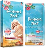 Summer Foot Premium Foot Mask for Soft Baby Feet - Exfoliating Foot Peel Remove Callus & Repair rough heals with only 1 Use - Best Test Results - Tested in Germany - PFM