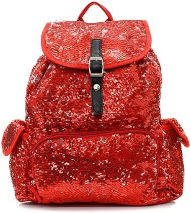 Sequin Fashion Backpack Red