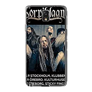 Shock-Absorbing Cell-phone Hard Cover For Samsung Galaxy Note3 (kWq23576eQBE) Support Personal Customs High-definition Korpiklaani Band Pattern