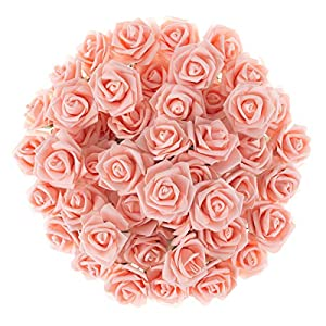 Pure Garden Real Touch Fake Flowers for Home Decor, Wedding, Bridal/Baby Shower, Centerpiece, More, 50 Pc Set 52