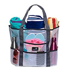 "BEST Beach Bag you'll ever own!  At last - the bag you've been waiting for that has it all:  16.5""L x 15""H x 8.5""W  Carry everything you need for a day at the beach or pool in this perfect bag  7 outer pockets to hold sunblock, water, flip fl..."