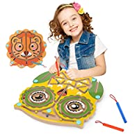 Owl Wooden Children Magnetic Racing Game Activity