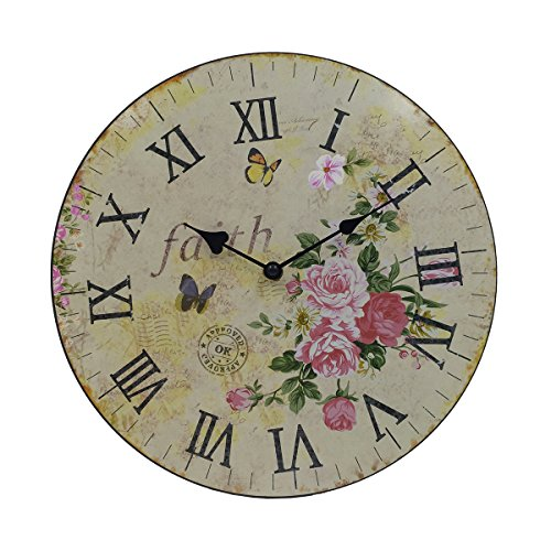 Hippih Silent Round Wall Clocks (12 Inches) Liv...