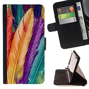 - Feather Colorful/ Personalizada del estilo del dise???¡Ào de la PU Caso de encargo del cuero del tir????n del soporte d - Cao - For LG G2 D800