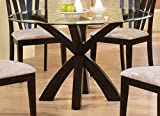 Coaster Home Furnishings 101071 Casual Dining Table Base, Deep Merlot Finish( Glass not included)