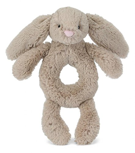 Jellycat Bashful Beige Bunny Plush Baby Ring Rattle