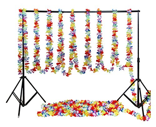 Fighting to Achieve 32ft Tropical Hawaiian Flower Lei Garland Hibiscus Flower Garlands for Party Decorations