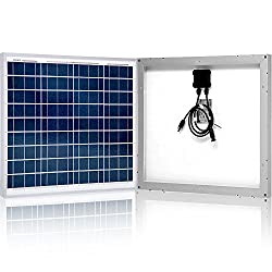 ACOPOWER 50 Watt 50W Polycrystalline Photovoltaic PV Solar Panel Module with MC4 for 12 Volt Battery Charging