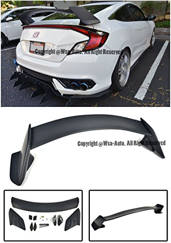 EOS Body Kit Rear Wing Spoiler - Honda Civic 2 Door Coupe 16-Up 2016 2017 2018 Type R Style