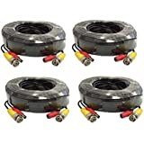 wennow (4)Pack 100ft Pre-made All-in-One Video and Power for Q-See CCTV Security Camera