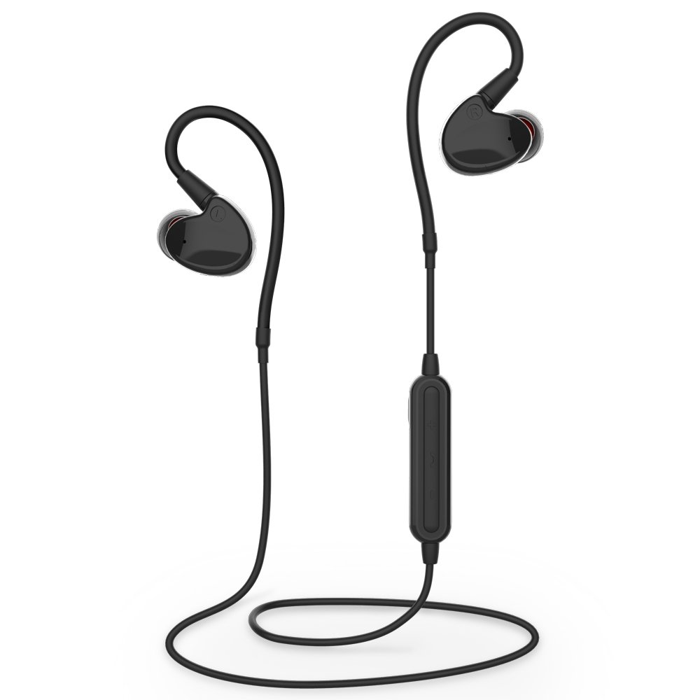 Bluetooth Earbuds Wireless Sport Headphones, Lightweight IPX6 Waterproof Headset HD Stereo Sweatproof Cordless In Ear Earphones w/ Mic for Gym Running Workout Fitness, iPhone Android Cell Phones