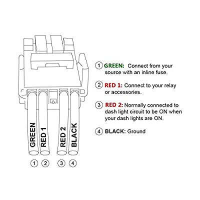 MICTUNING Backlit LED LIGHT BAR Symbol Push Button with Wiring Kit ON-OFF Switch for Toyota (White, Surface Size 1.28 x 0.87 inches): Automotive