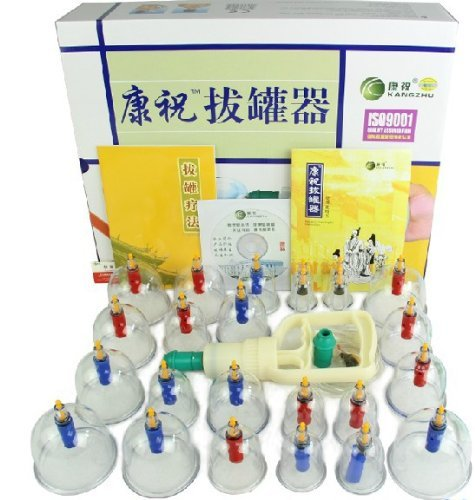 Kangzhu 24-Cups Biomagnetic Chinese Cupping Therapy Set T...