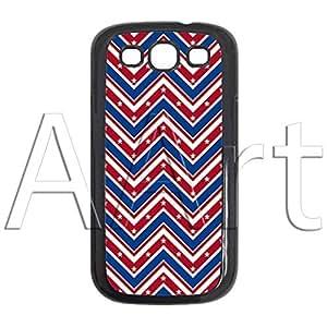 V19.1 Red Blue zigzag Strips Samsung Galaxy S3 case / zigzag Galaxy S3 Black Case - 4G AArt