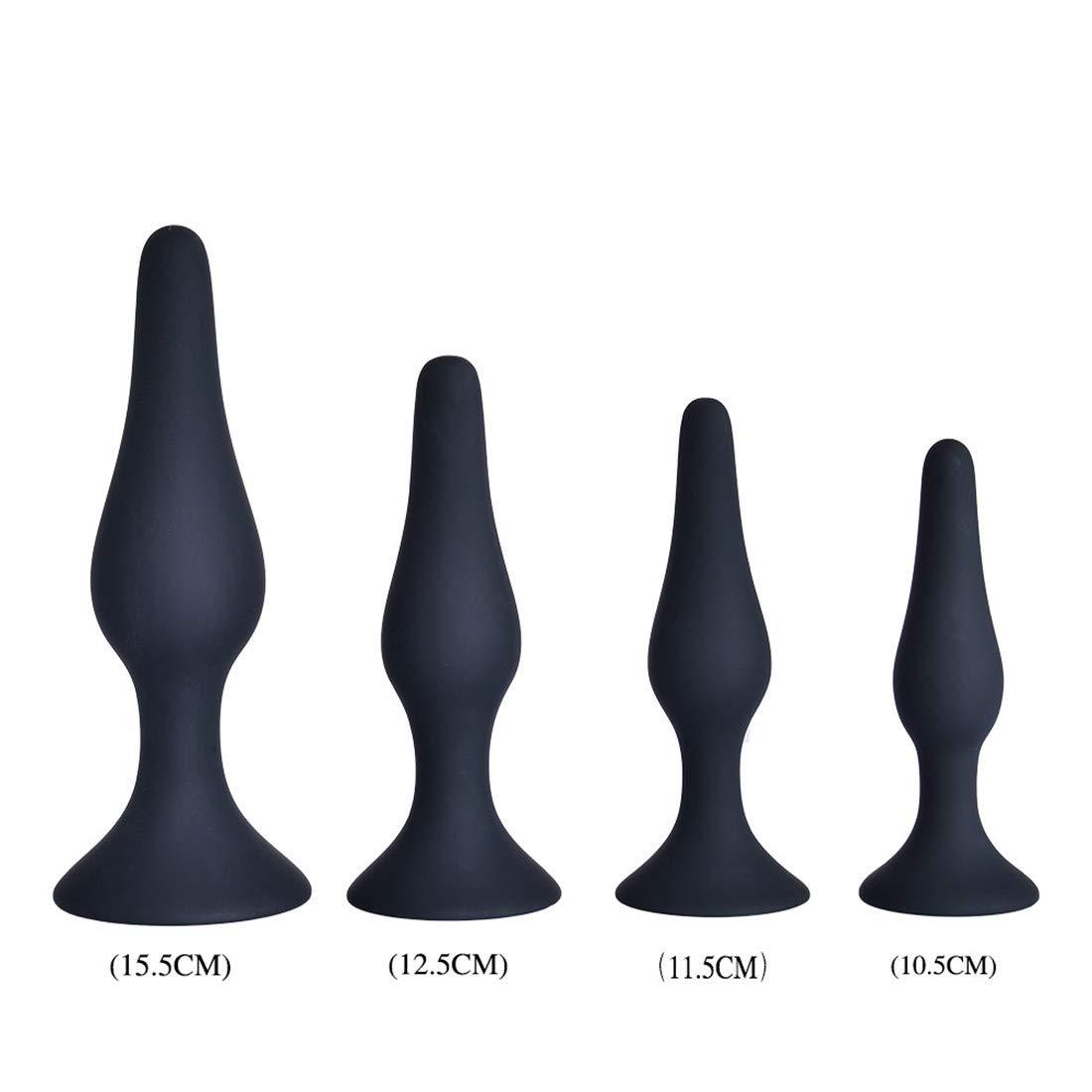Mifusanahorn Juego de Cuatro Piezas para Adultos Juguete Masturbación Sexual Plug Anal de Silicona Masturbación Juguete Femenina con Robusta Ventosa Base Anal Plug 83b598