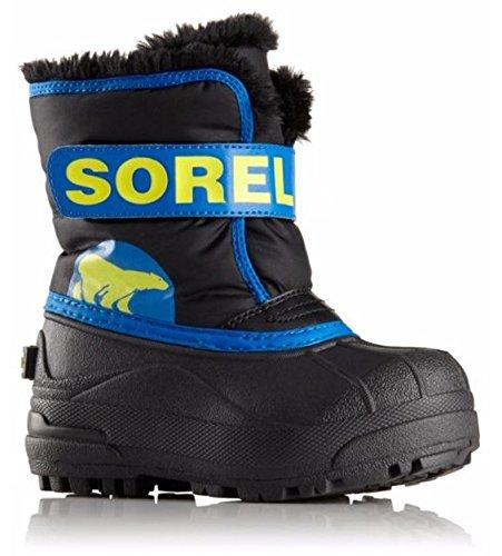SOREL Snow Commander Faux Fur Kids Boots 12 M US Little Kid Black Super -