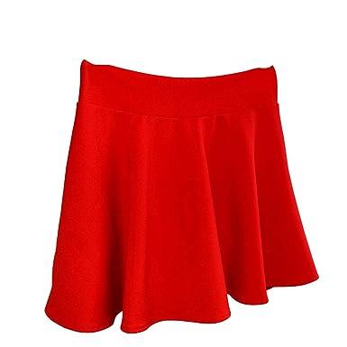 Valin - Falda - Trapecio o Corte en A - para Mujer Rojo XL=42 ...