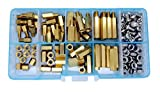 Guard4U 160pcs M4 Male-Female Brass Hex Spacer Standoff/Screw Nut Assortment Kit
