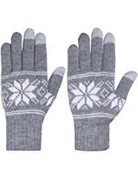 Womens Winter Warm Thick Knit Phone Texting Touch Screen Gloves Mittens