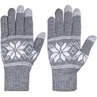 Chalier Womens Winter Warm Thick Knit Phone Texting Touch Screen Gloves Mittens