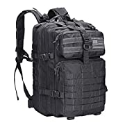 G4Free 40L Military Tactical Backpack Molle Shoulder Bag Rucksack Assault Pack Daypack for Camping Trekking Hunting…