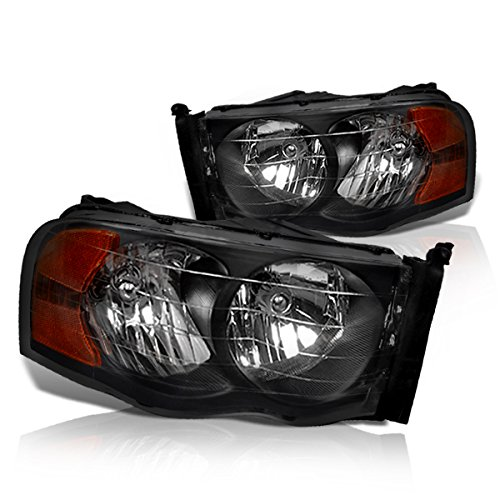 04 Smoked Headlight Film - Instyleparts Dodge Ram 1500 2500 3500 Clear Lens Headlights with Black Housing