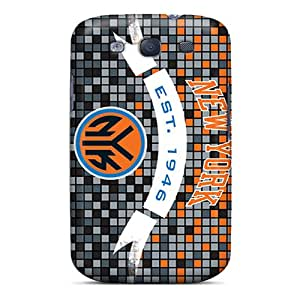 Shock Absorbent Cell-phone Hard Covers For Samsung Galaxy S3 With Support Your Personal Customized High Resolution New York Knicks Series SherriFakhry