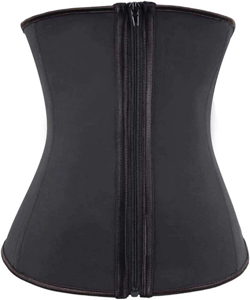 ASO-SLING Latex Waist Trainer Slimming Body Shaper Corsets Cincher with Zipper and Hook