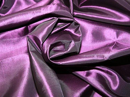 Plain Shot Taffeta Dress Fabric Purple - per metre
