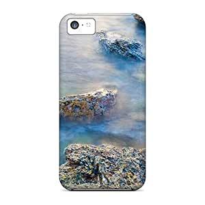 Iphone High Quality Cases/ Beautiful Rocks On Shore DRv22065AcDr Cases Covers For Iphone 5c