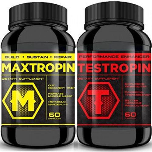 MAXTROPIN & TESTROPIN Combo - Increase Muscle Mass, Cut Recovery Time, Improve Performance with better results! EXPLOSIVE Workouts with the