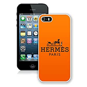 Unique And Luxurious Custom Designed Cover Case For iPhone 5S With Hermes 26 White Phone Case
