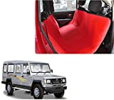 Auto Pearl - Premium Make Red Black Car Rear Seat Pet Cover For - Toyota Land Cruiser