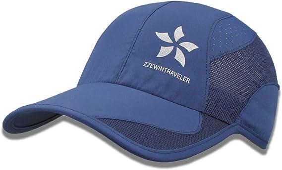 ZZEWINTRAVELER Quick Dry Sports Cap Unisex Lightweight Breathable Baseball Cap Sun Hat