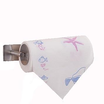 ZHGI Roll-Halter Papier Küchentuch aus Edelstahl Bad Handtuch Rack ...