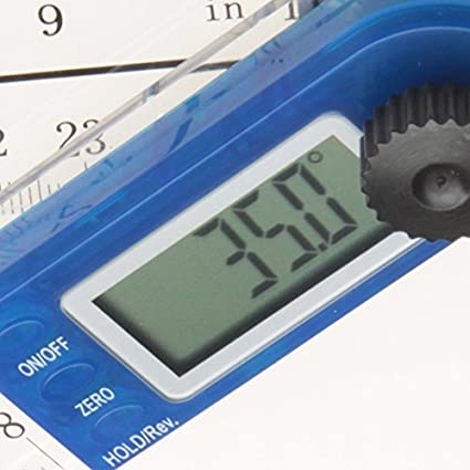 iGaging 35-310-G Electronic Digital Protractor Goniometer Angle Finder Miter Gauge 11-Inch by iGaging