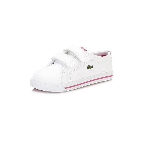 2d9150e2a33f0 Lacoste Infantil Blanco Rosa Marcel 117 1 CAI Zapatillas-UK 9 Infantil   Amazon.es  Zapatos y complementos