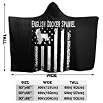 MAOYIHO Polo English Cocker Spaniel America Flag Hooded Blanket Kids & Adults Sherpa Fleece Blanket 8