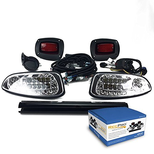 RecPro EZGO RXV GOLF CART DELUXE STREET LEGAL ALL LED LIGHT KIT 2008-2015