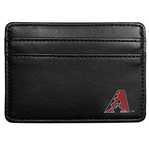 (MLB Arizona Diamondbacks Leather Weekend Wallet, Black)