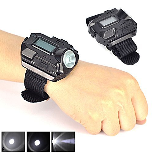R5 Rechargeable LED flashlight strong light list Light Watch watch hands-free outdoor 3 mode waterproof by kingluyuan