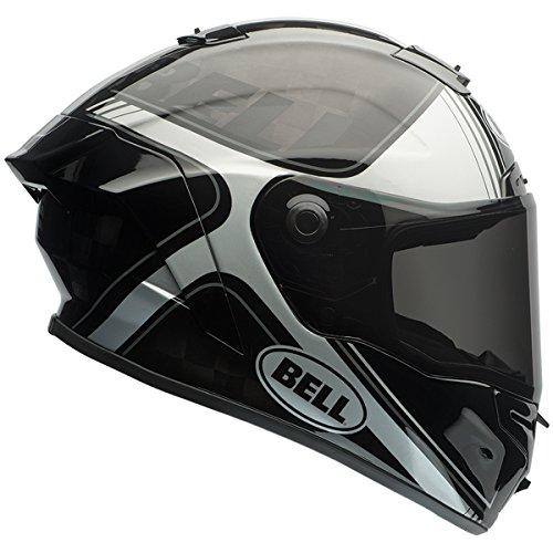 Bell Pro Star Unisex-Adult Full Face Street Helmet (Tracer Black/Silver, Small) (D.O.T.-Certified)